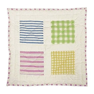 Patch Magic Spring Work Cotton Throw Pillow