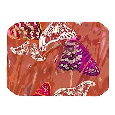 KESS InHouse Butterflies Party Placemat; Orange
