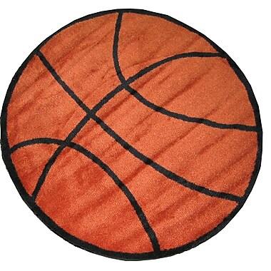 Fun Rugs Fun Shape Basketball Area Rug; Round 3'3''