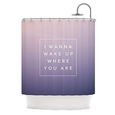 KESS InHouse Wake Up Shower Curtain