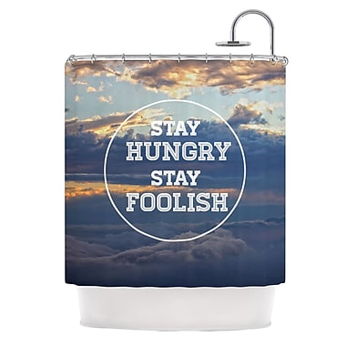 KESS InHouse Stay Hungry Shower Curtain