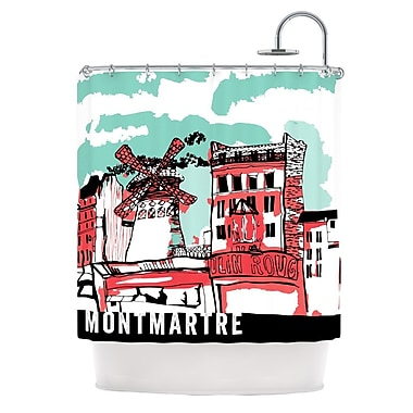KESS InHouse Montmartre Shower Curtain