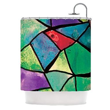 KESS InHouse Stain Glass 1 Shower Curtain