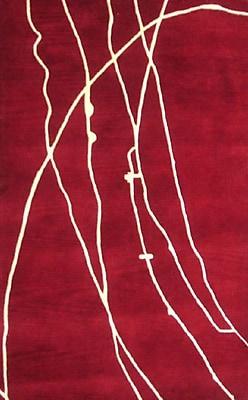 MOTI Rugs Calypso Red Area Rug; Square 1'6''