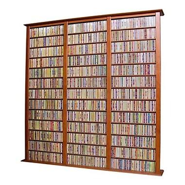 Venture Horizon VHZ Entertainment Large Triple Multimedia Storage Rack; Cherry