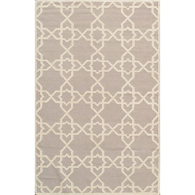 Pasargad Sahara Light Gray/Ivory Area Rug; 6' x 9'