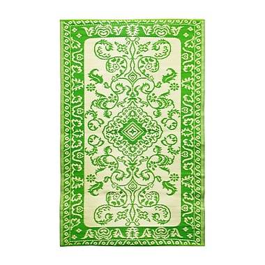 ACHLA Tracery Kitchen Mat; Lime