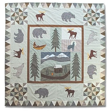 Patch Magic Mountain Whispers Cotton Shower Curtain