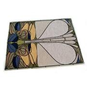 Rennie & Rose Design Group Arts and Crafts Art Nouveau Floral Window Placemat (Set of 4)