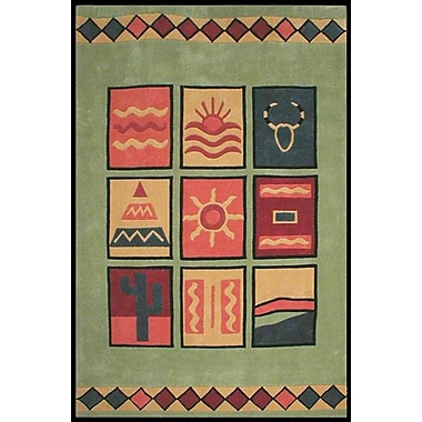 American Home Rug Co. Bright Lime Sizzle Area Rug; 8' x 11'