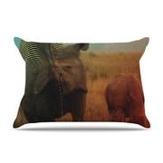 KESS InHouse Abstract Rhino Pillowcase; Standard