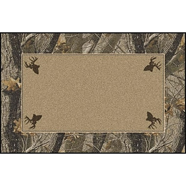 Milliken Realtree Hardwoods Solid Center Area Rug; Rectangle 5'4'' x 7'8''