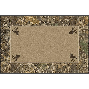 Milliken Realtree Timber Solid Center Area Rug; Rectangle 5'4'' x 7'8''