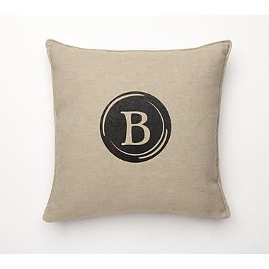 Corona Decor Linen Retro Typewriter Font Linen Throw Pillow; B