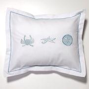 Jacaranda Living Crab, Starfish, Sand Dollar Percale Cotton Pillow Cover