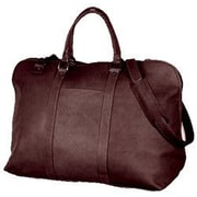 David King 19'' Large Opening Leather Travel Duffel; Caf  / Dark Brown