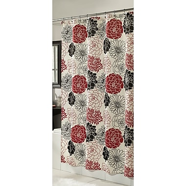 m.style Full Bloom Microfiber Shower Curtain