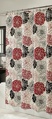m.style Full Bloom Microfiber Shower Curtain