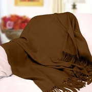 Peach Couture Peach Couture Signature Cashmere Throw; Brown