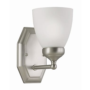 TransGlobe Lighting 1-Light Wall Sconce; Brushed Nickel