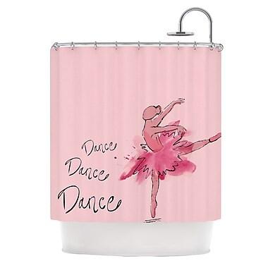 KESS InHouse Ballerina Shower Curtain