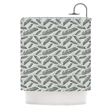 KESS InHouse Feather Scene Shower Curtain
