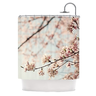 KESS InHouse Japanese Blossom Shower Curtain