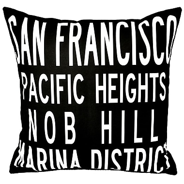 Uptown Artworks San Francisco Throw Pillow