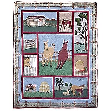 Patch Magic Horse Cotton Throw Quilt