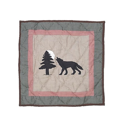 Patch Magic Wolf Trail Cotton Throw Pillow