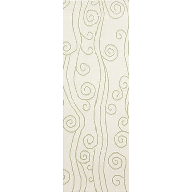 Somerset Bay Boardwalk Lime & White Area Rug; 3'3'' x 5'3''