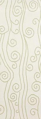 Somerset Bay Boardwalk Lime & White Area Rug; Rectangle 5' x 8'