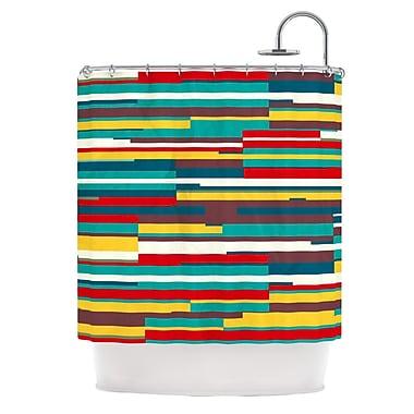 KESS InHouse Blowmind Shower Curtain