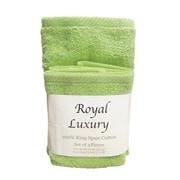 Textiles Plus Inc. 4 Piece Towel Set; Celery