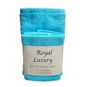 Textiles Plus Inc. 4 Piece Towel Set; Teal