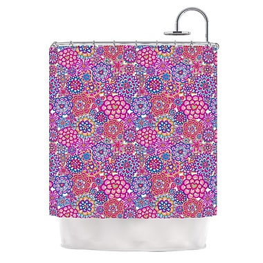 KESS InHouse My Happy Flowers Shower Curtain