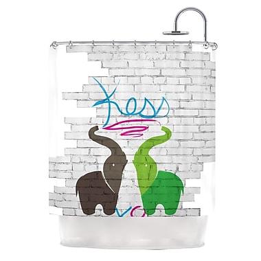 KESS InHouse Elephants Shower Curtain