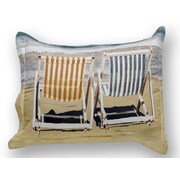 ARTnBED Chairs on the Beach Sham