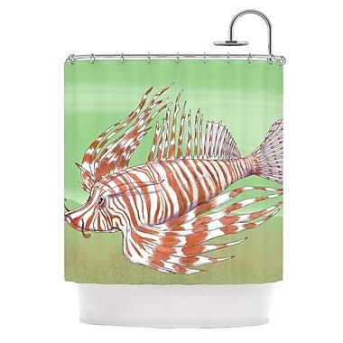 KESS InHouse Fish Manchu Shower Curtain
