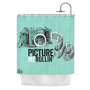KESS InHouse Picture Me Rollin Shower Curtain