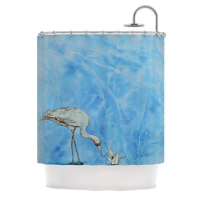 KESS InHouse Crane Shower Curtain