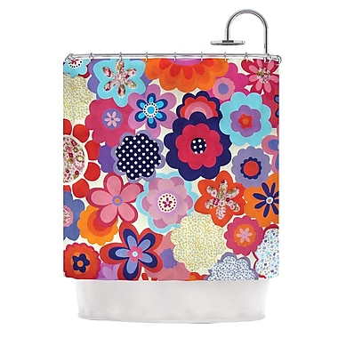 KESS InHouse Patchwork Flowers Shower Curtain