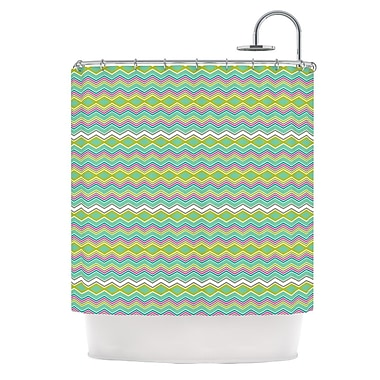 KESS InHouse Chevron Love Shower Curtain
