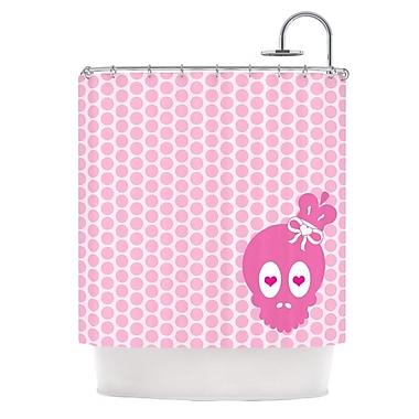 KESS InHouse Skull Shower Curtain