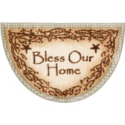 Brumlow Mills Berry Blossoms Blessing Kitchen Brown Novelty Rug; Half Circle 1'7'' x 2'7''