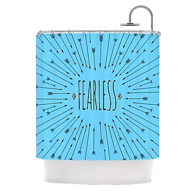 KESS InHouse Fearless Shower Curtain