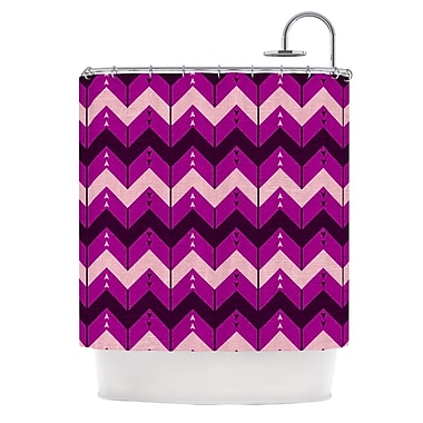 KESS InHouse Chevron Dance Shower Curtain; Purple