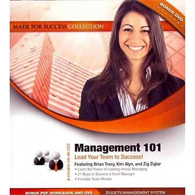 Management 101 Made for Success, Zig Ziglar, Brian Tracy, Kim Alyn Audiobook CD