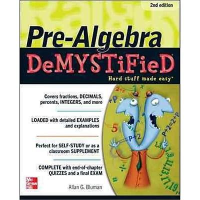 Pre-Algebra Demystified Allan Bluman Paperback