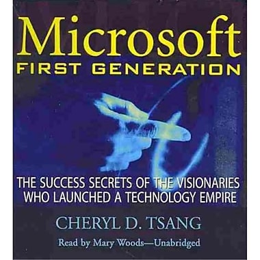 Microsoft First Generation Cheryl D. Tsang CD